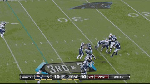 SuperCam: Cam Newton Proves He's Real With The Best 14-Yard Run You'll Ever See (GIF)
