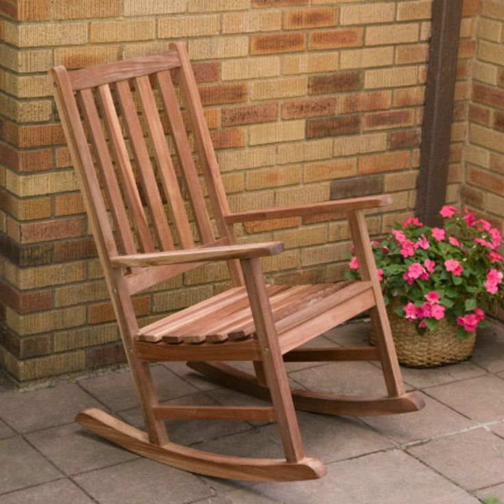 Belham Living Richmond Heavy-duty Outdoor Rocking Chair. Dimensions: 24W x 32D x 41H inches. Strong galvanized steel bolts. Durable red shorea tropical hardwood.
