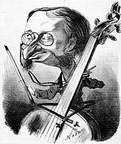 Jacques Offenbach  The composer-cellist caricatured