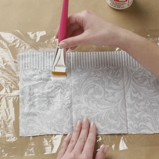 Our Can't-Miss Tip For Perfect Paper Napkin Decoupage!                                                                                                                                                                                 More