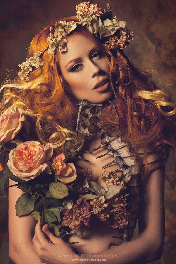 Flower Maiden Fantasy women & flowers in art fashion ...