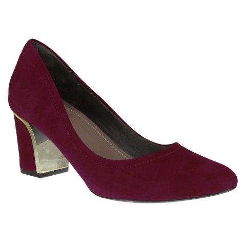 Sapato Usaflex U6201 - Cravina (Velour) - Calçados Online Sandálias, Sapatos e Botas Femininas | Katy.com.br