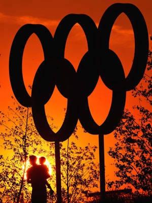 Rings of Fire - Sun Set at The London Olympics 2012