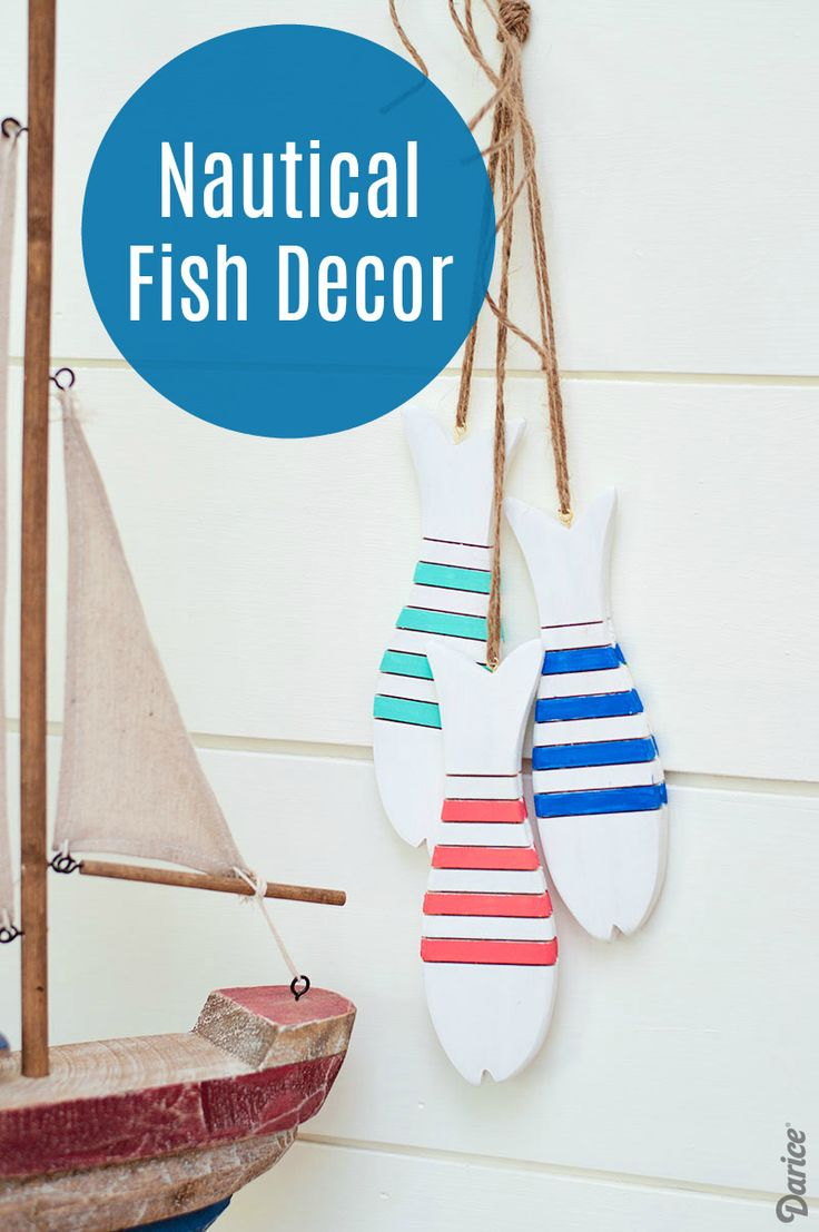 DIY Fish Decor: Nautical Wood Fish Wall Hanging - Darice