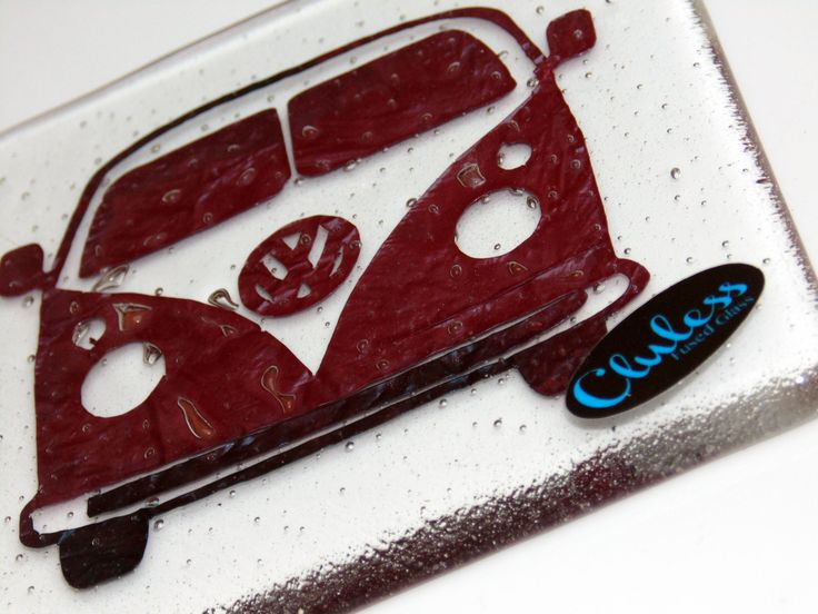 VW Camper Coaster - Fused Glass by ClulessFusedGlass on Etsy