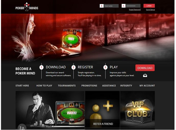 Poker Minds is an online site launched in 2014 that is custom built using Proprietary software not shared with any other network. The site concept and development was the idea of team comprised of skilled Poker players and leaders in the industry. http://www.latestpokerbonuses.com/poker-rooms/poker-minds/