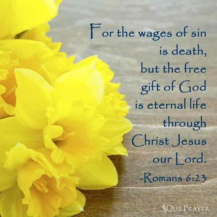 Romans 6:23. ...the gift of God is eternal life through Christ Jesus our Lord.