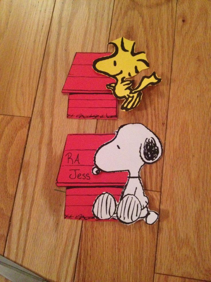 door decs! #snoopy #woodstock #peanuts  RA Ideas  ~ 190942_Halloween Door Decs Ra