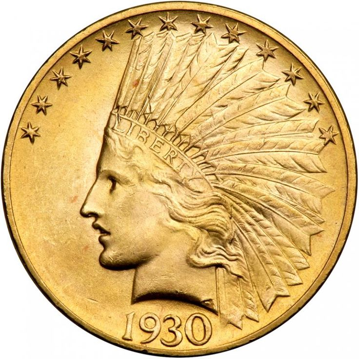1930-S $10 Indian. PCGS MS65 As fresh as the day it was minted! Well struck and ...