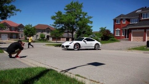 Sooo, what would you do if you got a postcard in the mail with a picture of a Porshe in your driveway? #Marketing #Postcards