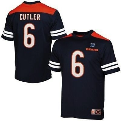 Jay Cutler Chicago Bears Majestic Hashmark II T-Shirt Big and Tall Sizes