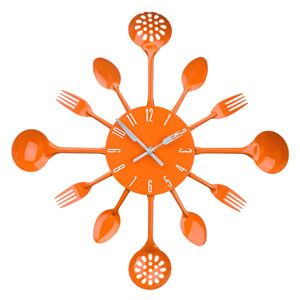 Orologio Posate Arancione By Decochic
