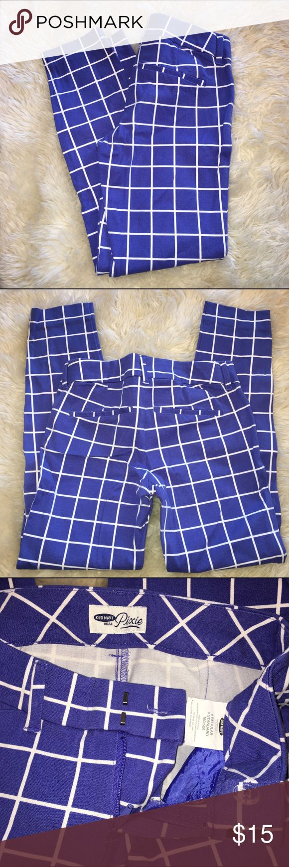Old Navy Pixie Pants Old navy pixie pants. Kind of a blue/ purple color. Super comfy, tight fit. Old Navy Pants