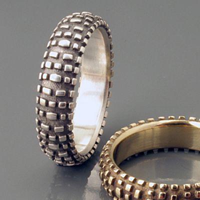 Dirt Bike Tire wedding rings