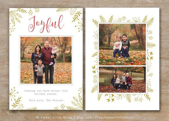 Holiday Card Template for Photoshop by SweetLittleMuse on @creativemarket