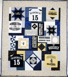 Probably the best t-shirt quilt Ive seen.