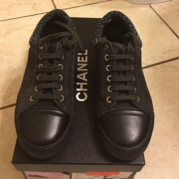 Chanel tennis shoes 100% authentic Chanel tennis shoes size 36. Super new. Wear like 3 times. CHANEL Shoes Sneakers