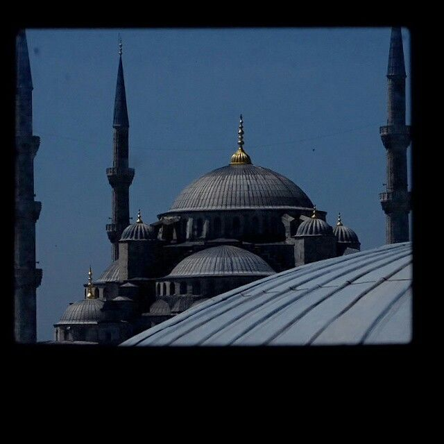 Blue mosque from window