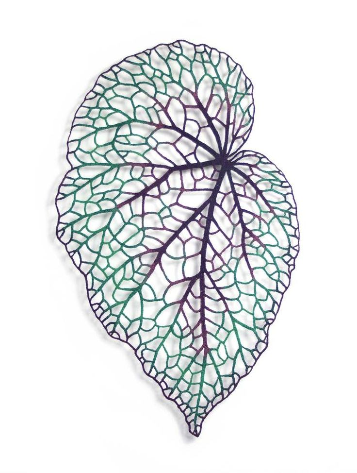 Begonia leaf #1 by Meredith Woolnough, Embroidery, 2016
