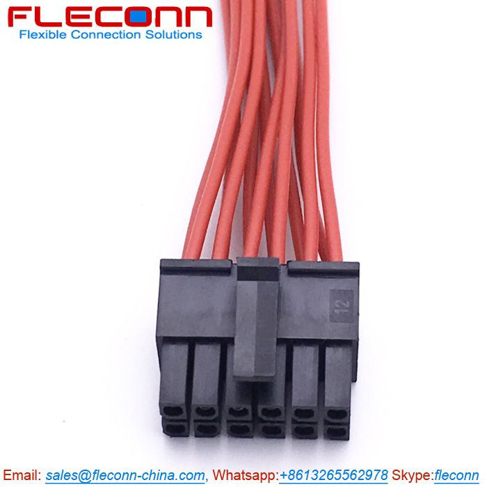 Molex 43025 1200 12 Pin Connector Wire Harness Micro Fit 3 0 Receptacle Housing Dual Row Harness Wire Micro