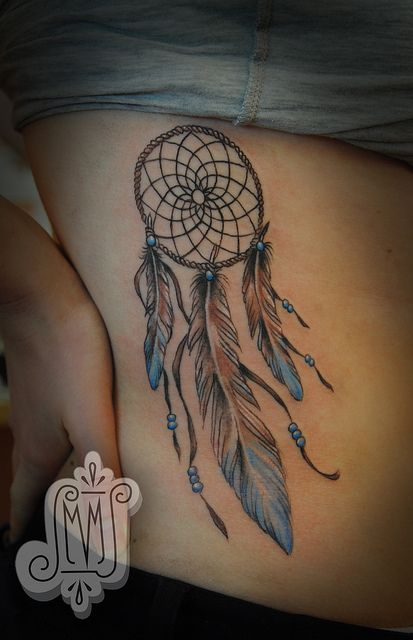 dreamcatcher with 3 feathers