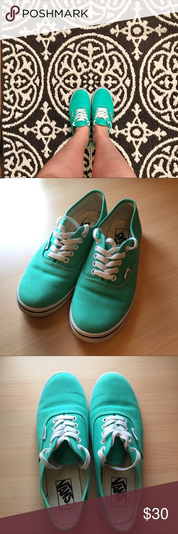 Teal Vans Teal Authentic Lo Pro Vans Sneakers. Women's US 7. Like new. Worn maybe twice. No stains. Vans Shoes Sneakers