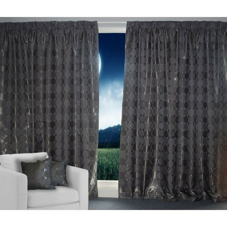 Charcoal Eclipse Amazing Fabric Curtains