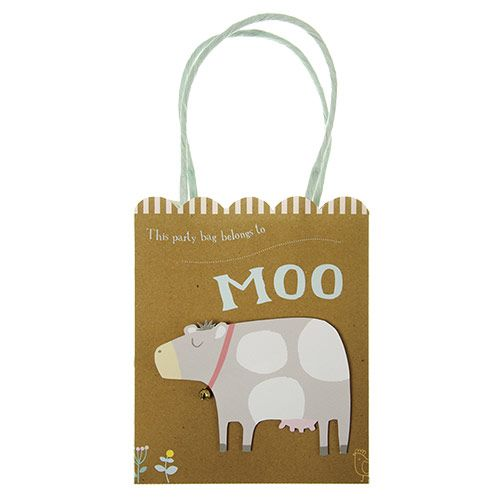 Happy Little Farm Paper Party Bags - Farm Party Theme - Party Ark // adorable, yes, but we used simple brown paper bags for treat sacks.