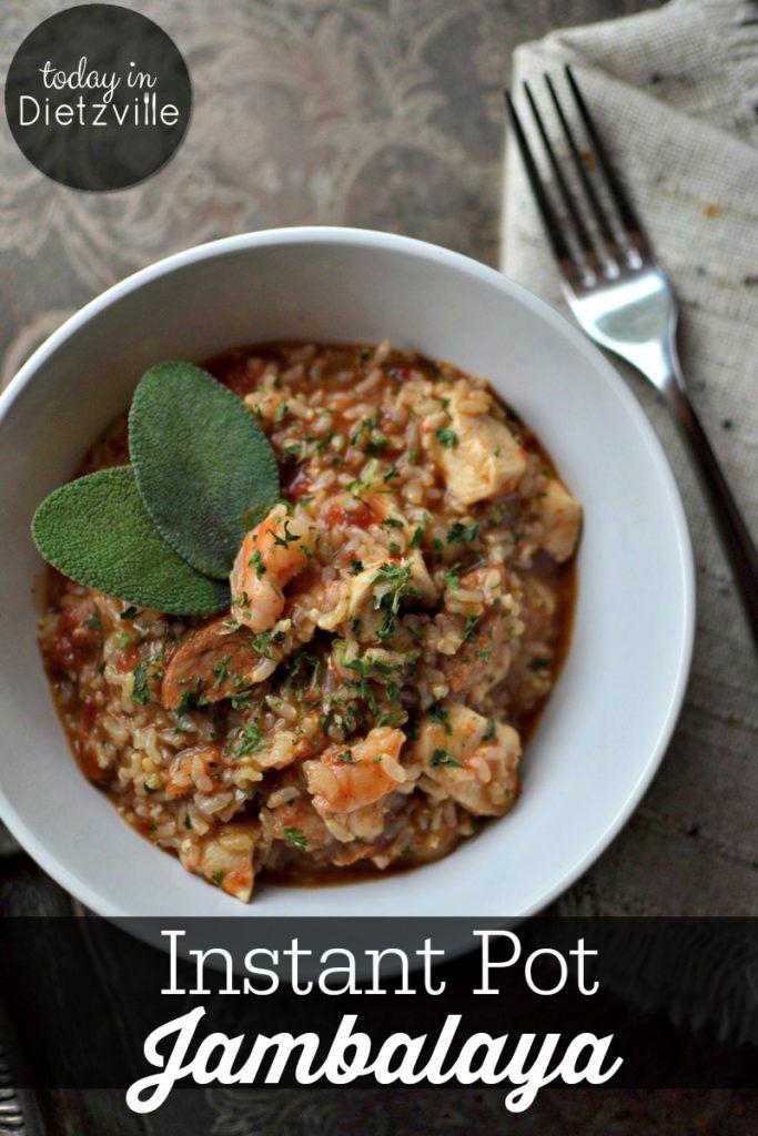 Easy & Spicy Instant Pot Jambalaya   Comfort food…