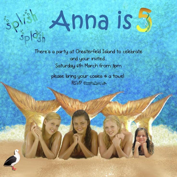 H2O Mermaid Party Invitation