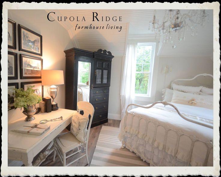 Farmhouse guest bedroom. Black white. | Bedroom Ideas ...