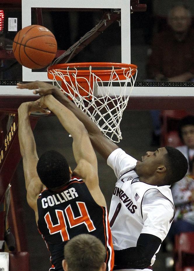 OSU's Devon Collier is fouled by Arizona State's Carrick Felix.