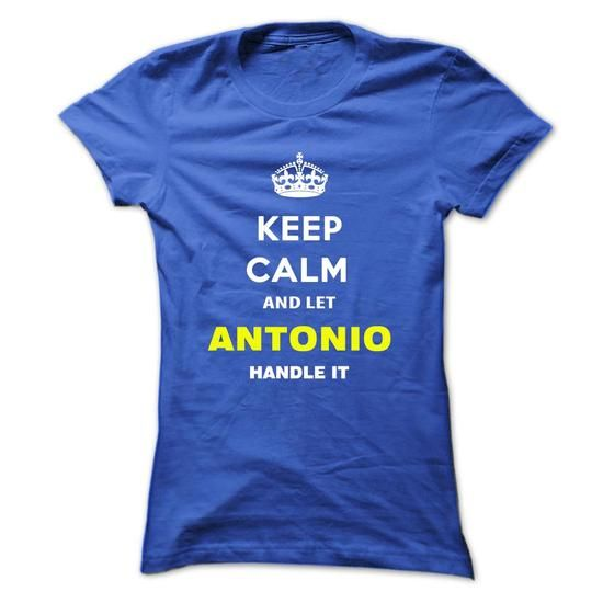 Keep Calm And Let Antonio Handle It - #shirt collar #cream sweater. BUY TODAY AND SAVE   => https://www.sunfrog.com/Names/Keep-Calm-And-Let-Antonio-Handle-It-rqjct-Ladies.html?60505