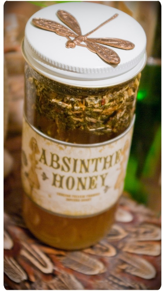 absinthe honey - infused gourmet honey made w/ wormwood, licorice, spearmint, star anise and love
