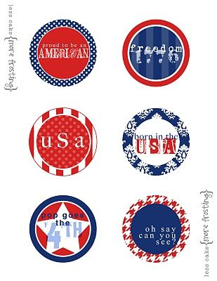more cute printable cupcake toppers