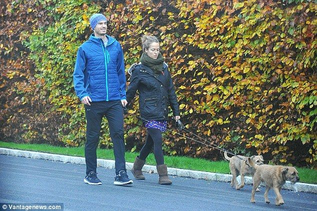 Andy and Kim Murray take their dogsMaggie Mayhem and Rusty Rascal for an autumnal stroll...