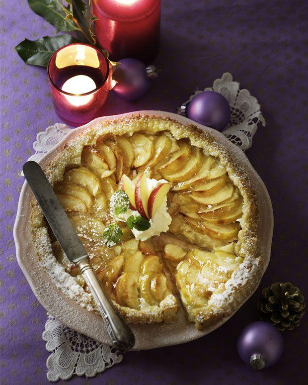 Marcipanæbletærte