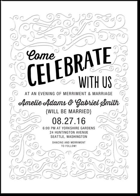 Celebratory Swirls Wedding Invitations from @WeddingPaper