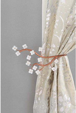 UO Cherry Blossom Curtain Tie-Backs
