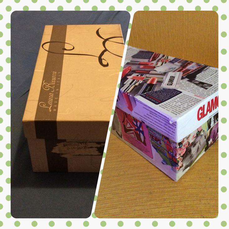 Da scatola x scarpe anonima a contenitore... Glamour ^_^