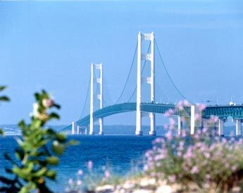 The Mackinac Bridge. #puremichigan