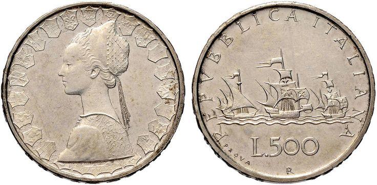 NumisBids: Nomisma Spa Auction 50, Lot 487 : Repubblica italiana (1946-) 500 Lire 1957 Prova – P.P. 412 AG RRR...