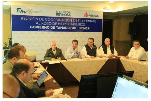 Integran Gobierno de Tamaulipas y PEMEX Grupo Interinstitucional de combate al robo de hidrocarburos