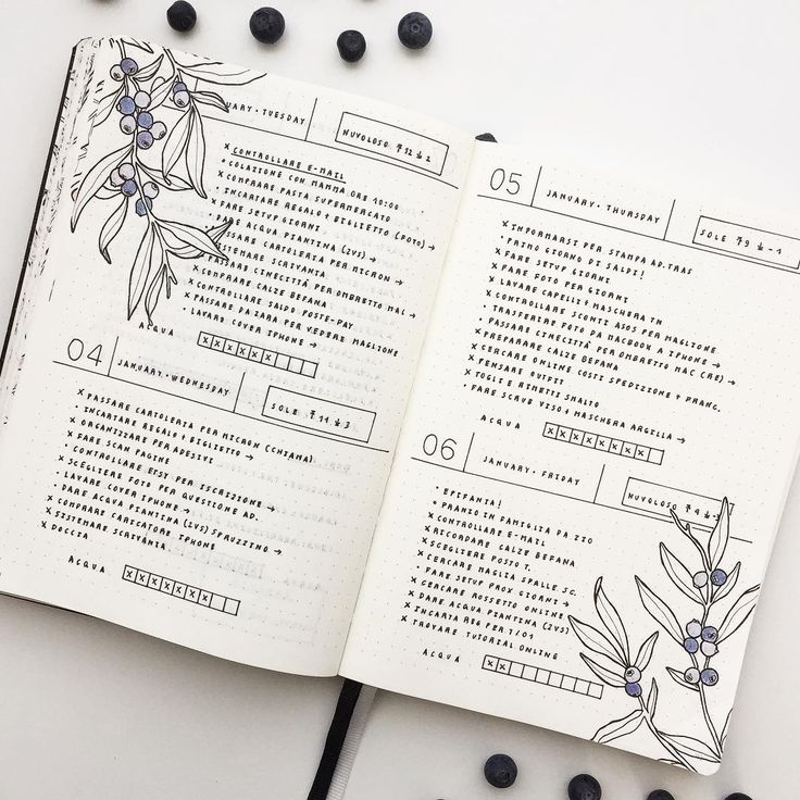 """Polubienia: 1,917, komentarze: 32 – Federica (@feebujo) na Instagramie: """"These days on my Bullet Journal  This time I decorated my layout with some berries! For the next…"""""""