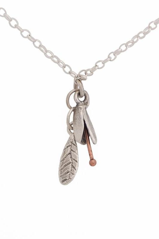 Spring Bud and Leaf Silver Necklace – $100 from RedManuka