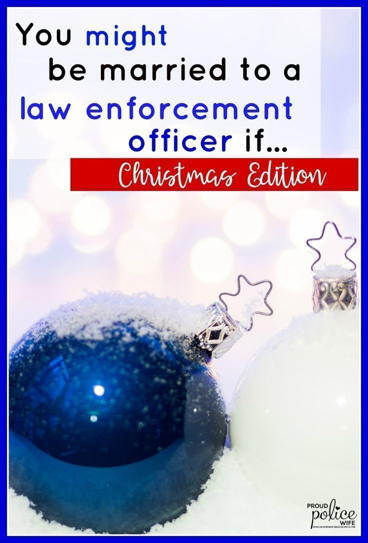 Being married to a law enforcement officer at Christmas is very different. From gifts to favorite products to funny experiences (#7) for him we've got any LEO wife covered!. #christmas #policeofficer #policewifelife #DIY #thinblueline