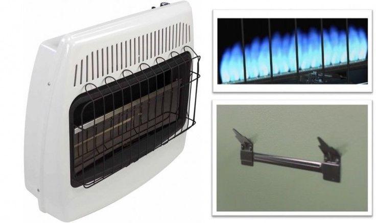 Propane Wall Heater 30000 BTU Vent Free Liquid Gas Mountable Blue Flame Heating #PerfectHomeSavings