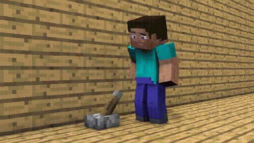 We were highly amused by this Minecraft Reddit GIF - check it out:  http://i.imgur.com/Lk5Q7Mf.gif  [via Reddit user mileuphigh]
