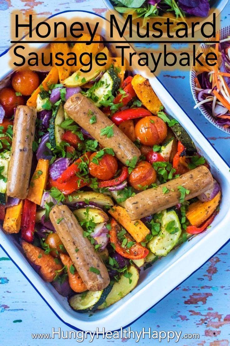 Honey And Mustard Sausage Tray Bake Recipe Sausage Tray Bake Baked Dinner Tray Bakes