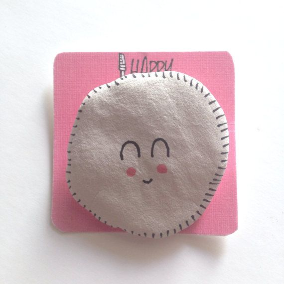 Little Ghost Clay Brooch  Cute Clay Brooch  by HappyMarker on Etsy #handmade #pretty #halloween #cute #kawaii